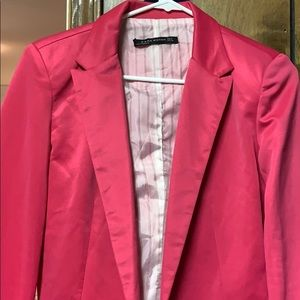 Zara Medium Pink Suit Jacket